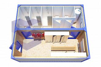 Модульная раздевалка с туалетом и душем МР-3